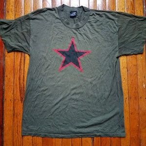 Vintage Green One Star Army T